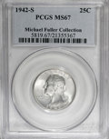 Washington Quarters, 1942-S 25C MS67 PCGS....
