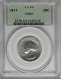 Proof Washington Quarters, 1937 25C PR65 PCGS....