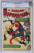 Silver Age (1956-1969):Superhero, The Amazing Spider-Man #16 (Marvel, 1964) CGC VF- 7.5 Cream to off-white pages....