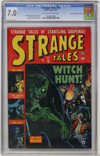 "Strange Tales #18 Davis Crippen (""D"" Copy) pedigree (Marvel, 1953) CGC FN/VF 7.0 Off-white to white pages"