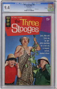 Three Stooges #50 File Copy (Gold Key, 1971) CGC NM 9.4 White pages