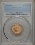 1925-D $2 1/2 MS64 PCGS. PCGS Population: (2618/679). NGC Census: (3653/1016). MS64. Mintage 578,000. From The Digiov...