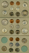Uncertified 1947 Double Mint Set. The set includes 28 coins, two of each denomination issued by the Philadelphia, San Fr...