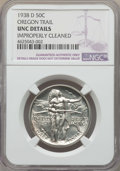 Commemorative Silver, 1938-D 50C Oregon -- Improperly Cleaned -- Details NGC. UNC. NGCCensus: (0/1363). PCGS Population: (0/2217). CDN: $160 Whs...