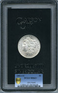 1882-CC $1 GSA MS62+ PCGS Secure. PCGS Population: (94/615 and 6/130+). NGC Census: (2103/17484 and 24/735+). MS62....(P...