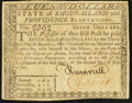 Colonial Notes:Rhode Island, Rhode Island July 2, 1780 $7 Fully Signed Extremely Fine.. ...