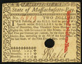 Colonial Notes:Massachusetts, Massachusetts May 5, 1780 $2 Hole Cancel Choice About New.. ...