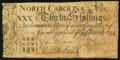 Colonial Notes:North Carolina, North Carolina March 9, 1754 30s Very Fine.. ...