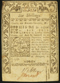 Colonial Notes:Rhode Island, Rhode Island May 1786 6s Extremely Fine.. ...