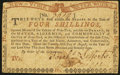 Colonial Notes:New York, New York August 25, 1774 (Water Works) 4s Very Fine.. ...