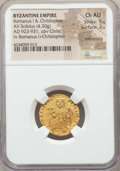 Ancients:Byzantine, Ancients: Romanus I Lecapenus (AD 920-944), with Constantine VIIand Christopher. AV solidus (4.30 gm). NGC Choice AU 5/5 - 2/5,smoothi...