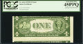 Error Notes:Skewed Reverse Printing, Fr. 1614 $1 1935E Silver Certificate. PCGS Extremely Fine 45PPQ.....