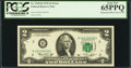 Error Notes:Mismatched Prefix Letters, Fr. 1935-B $2 1976 Federal Reserve Note. PCGS Gem New 65PPQ.. ...