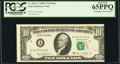 Error Notes:Miscellaneous Errors, Fr. 2021-A $10 1969C Federal Reserve Note. PCGS Gem New 65PPQ.. ...