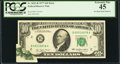 Error Notes:Foldovers, Fr. 2023-B $10 1977 Federal Reserve Note. PCGS Extremely Fine 45.....