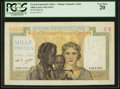 World Currency, French Equatorial Africa Afrique Francaise Libre 1000 Francs ND (1941) Pick 9a.. ...
