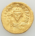 Ancients:Byzantine, Ancients: Phocas (AD 602-610). AV solidus(4.38 gm). XF,clipped. ...