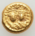 Ancients:Byzantine, Ancients: Heraclius (AD 610-641) and Heraclius Constantine (AD613-641). AV solidus (4.45 gm). XF....