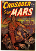 Golden Age (1938-1955):Science Fiction, Crusader from Mars #1 (Ziff-Davis, 1952) Condition: FN-....