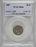 Proof Three Cent Nickels, 1887 3CN PR66 PCGS....