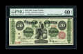 Large Size:Legal Tender Notes, Fr. 126b $20 1863 Legal Tender PMG Extremely Fine 40 EPQ....