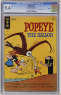 Silver Age (1956-1969):Cartoon Character, Popeye #77 File Copy (Gold Key, 1965) CGC NM 9.4 Off-white to white pages....