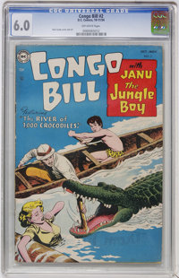 Congo Bill #2 (DC, 1954) CGC FN 6.0 Off-white pages