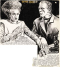"Movie Posters:Horror, Jack Pierce Collection - The Bride of Frankenstein (Universal,1935). Original Art (15.5"" X 17""). ..."