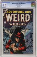 Golden Age (1938-1955):Horror, Adventures Into Weird Worlds #28 (Atlas, 1954) CGC VF 8.0 Off-whiteto white pages....