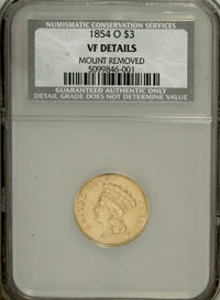 1854-O $3 --Mount Removed--NCS. VF Details....(PCGS# 7971)