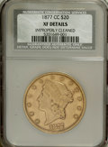 1877-CC $20 --Improperly Cleaned--NCS. XF Details....(PCGS# 8983)