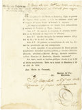 Autographs:Non-American, Decree Abolishing an Excise House in Coahuila and Texas...