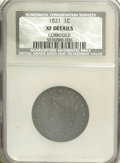 Large Cents, 1821 1C --Corroded--NCS. XF Details....