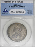 Bust Half Dollars, 1829 50C Small Letters--Cleaned--ANACS. XF40 Details....