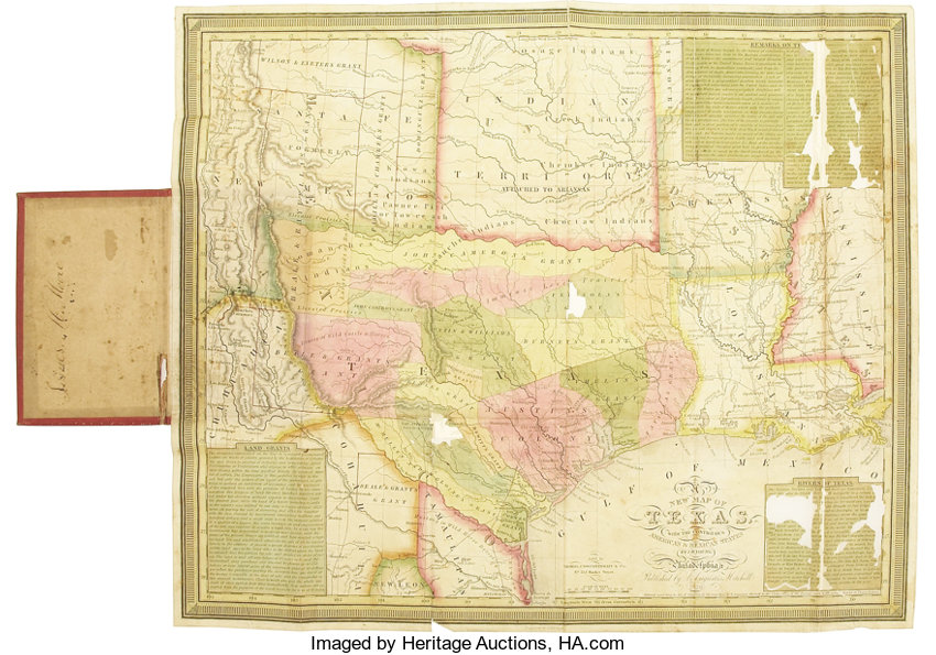 New Map Of Texas.Samuel Augustus Mitchell New Map Of Texas 1839 Miscellaneous