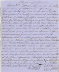 "Military & Patriotic:Civil War, HAND WRITTEN DOCUMENT ""LINCOLN'S ELECTION"" STATE OF MAINE 1864...."