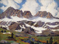 Fine Art - Painting, American:Modern  (1900 1949)  , HARVEY B. COLEMAN (American 1884-1959). High Sierra. Oil oncanvas laid on masonite. 30 x 40 inches (76.2 x 101.6 cm). S...