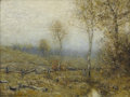Fine Art - Painting, American, BRUCE CRANE (American 1857-1937). Winter Landscape, 1922.Oil on canvas laid on board. 18-1/4 x 24 inches (46.4 x 61.0 c...