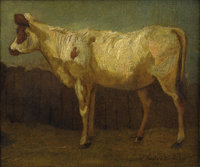 Attributed to JAMES WARD (British 1769-1859) Portrait of a Cow, 1811 Oil on canvas laid on board