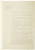 Military & Patriotic:Pre-Civil War, RARE DECREE SETTING UP A SYSTEM FOR DEFENSE OF THE FRONTIERS...