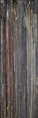 LARRY POONS (American b.1937) Angela D, 1981 Acrylic on canvas 81-1/4 x 25-1/2 inches (206.4 x 64
