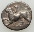 Ancients:Greek, Ancients: SICYONIA. Sicyon. Ca. 330/320-280 BC. AR triobol (2.73gm). VF....