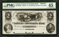 Canadian Currency: , Sherbrooke, PC- Eastern Townships Bank $2 Ch. # 230-10-02-08P FaceProof.. ...