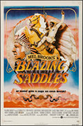 "Movie Posters:Comedy, Blazing Saddles (Warner Brothers, 1974). One Sheet (27"" X 41""). Comedy.. ..."