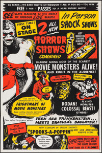 "Dr. Macabre's Frightmare of Movie Monsters (1950s). Silk Screen Poster (40"" X 60""). Horror"