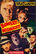 """Movie Posters:Horror, Bowery at Midnight (Astor, R-1949). Trimmed One Sheet (24"""" X 36.5""""). Horror.. ..."""