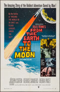 """Movie Posters:Science Fiction, From the Earth to the Moon (Warner Brothers, 1958). One Sheet (27"""" X 41""""). Science Fiction.. ..."""