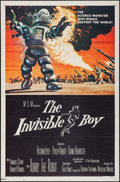 "Movie Posters:Science Fiction, The Invisible Boy (MGM, 1957). One Sheet (27"" X 41""). ScienceFiction.. ..."