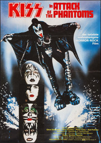 "KISS Meets the Phantom of the Park (Avco Embassy, 1978). German A0 (33"" X 46""). Rock and Roll"