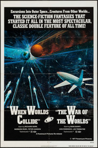 "When Worlds Collide/The War of the Worlds Combo (Paramount, R-1977). One Sheet (27"" X 41""). Science Fiction..."